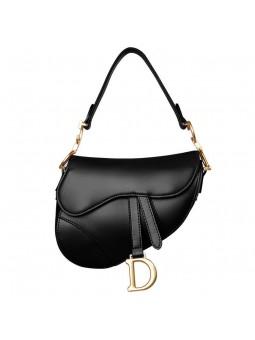 """""""Santio"""" leather saddle bag"""
