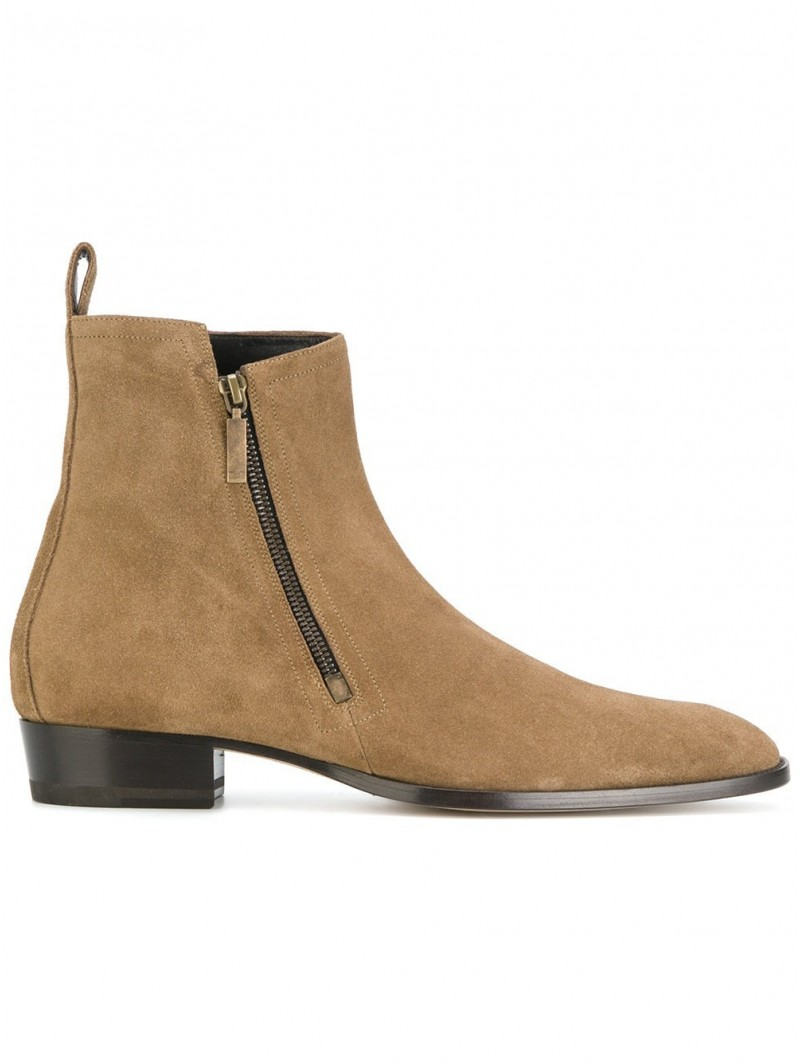 suede calf leather Color Beige Shoes