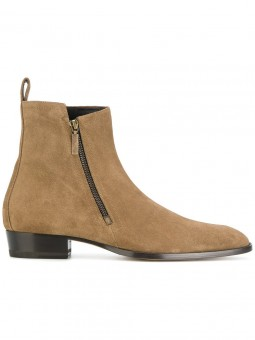 """Santini"" Zip-up suede boots"
