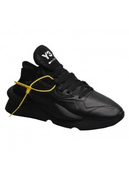 """Venci"" Black leather sneakers"