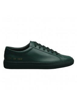 """Lodi"" Green leather sneakers"