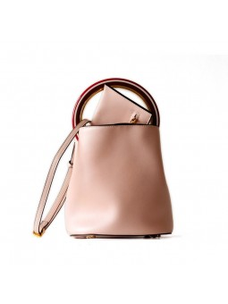 """Giordi"" Leather Bucket Bag"