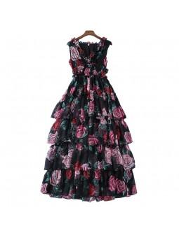"""""""Santia"""" Floral print silk..."""