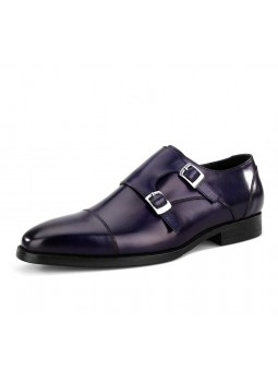 """Lorenzo"" Leather Buckle Shoes"