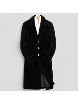 """Prato"" Black wool coat..."