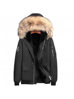 """Prato"" Hooded Fox Fur Jacket"