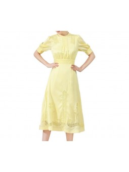 """Santia"" Yellow satin midi..."
