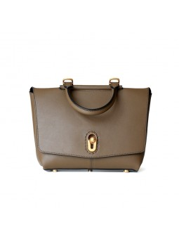 """lufio"" Leather flap handbag"