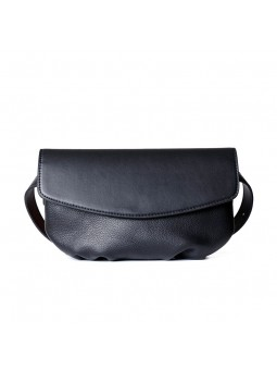 """lufio"" Leather flap belt bag"