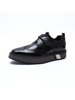 """Lorenzo"" Black leather..."