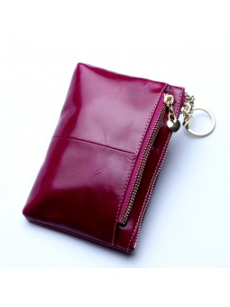 """Zeni"" Leather zipped wallet"