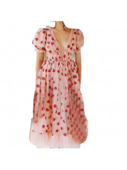 """Santia"" Strawberry Print..."