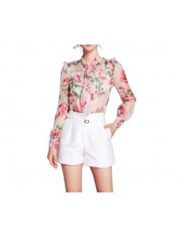 """Gena"" Rose Print Shirt..."