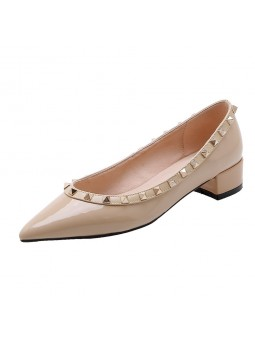 """Navona"" Gold riveted pumps..."