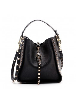 """Rivo"" Studded bucket bag..."